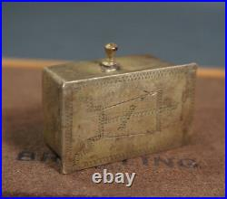 1800 Imperial Russian hammered Silver&Gold Reliquary Box Casket & Crucifix Cross