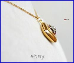 1889 Imperial Russian Finland Pendant Locket 18K Gold Diamonds Rubies / 6.5gr