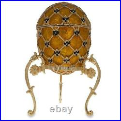 1897 Imperial Coronation Royal Russian Egg 7 Inches