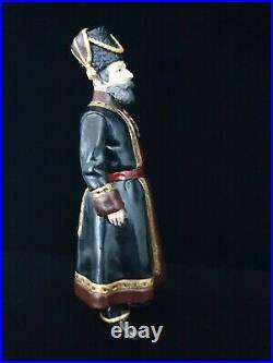 1912 FABERGE Rare Bronze Imperial Russian Cossack Guard Antique Gold Gilt Enamel
