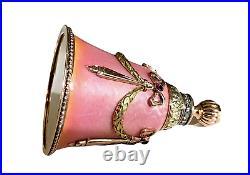 A Faberge Imperial Russian Gold Diamond Ruby& Guilloché Enamel Perfumer