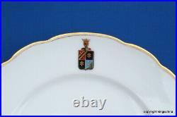 ANTIQUE Imperial RUSSIAN PLATE ADODOUROV ST PETERSBURG plate Porcelain