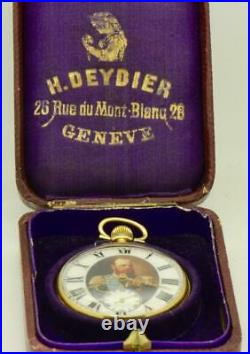 Antique 18k gold award LeCoultre caliber pocket watch for Imperial Russian Court