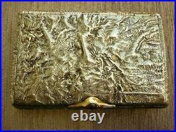 Antique 1900's Russian Imperial Silver 84 Gold / Ruby Samorodok Cigarette Case