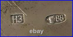 Antique Imperial Russian 88 Gilded Silver Enameled Kovsh (N. Zverev)