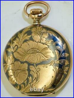 Antique Imperial Russian Art-Nouveau Longines silver, gold&niello pocket watch