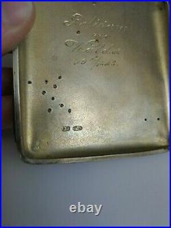 Antique Imperial Russian Cigarette Case Moscow 84 Silver Gold Script Art Nouveau
