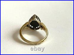 Antique Imperial Russian Faberge 14k 56 Solid Gold Diamond Ring Author's #2
