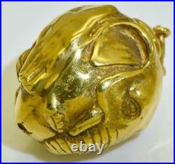 Antique Imperial Russian Faberge 14k gold Easter Egg shaped Elephant pendant. Box