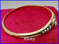 Antique Imperial Russian Faberge 18k 72 Gold 1.6ct Diamonds Bracelet
