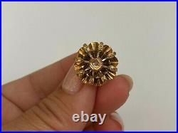 Antique Imperial Russian Faberge 18k 72 Gold Diamond Earrings Author's work