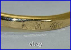 Antique Imperial Russian Faberge Toi et Moi love 14k gold & 1.2ct Diamonds ring