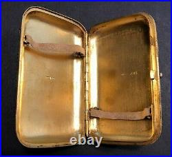 Antique Imperial Russian Gilded Enameled 84 Silver Cigarette Case (Nazarov)