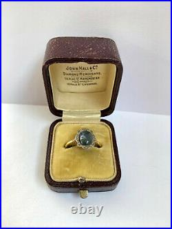 Antique Imperial Russian K. Faberge 18k 72 Gold Diamond Sapphire Ring