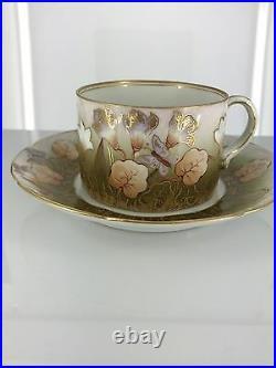 Antique Imperial Russian M. S. Kuznetsov Manufactory Tea set, Verbilki, circa 1900