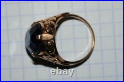Antique Imperial Russian ROSE 56 14K Gold Women's Jewelry Ring 5.75 gr S 6.5