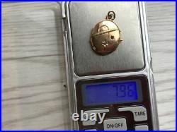 Antique Imperial Russian Rose Gold 56 14K Women's Jewelry Pendant Locket 8 gr