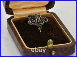 Antique Imperial Russian jeweled gold&Diamonds MAID OF HONOR CYPHER EM c1820