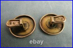 Antique Imperial Russian time 14 ct. Rose Gold Cufflinks Mark FG 56. Faberge