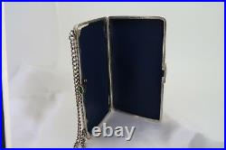 Antique Russian Imperial Silver & Gold Clutch Case With Hunting Scene