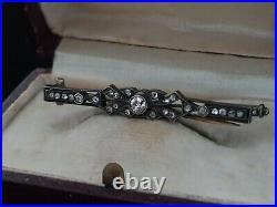 Antique Tsarist Russian Imperial Romanov Jewelry Gold Diamond Brooch Pin Pendant