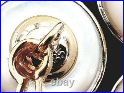 Antique Vintage Imperial Russian 56 Gold 14K Ruby Mother of Pearl Mens Cufflinks