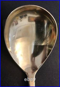BIG Antique Imperial Russian 88 Gilded Silver Enamel Spoon (Navalainen)