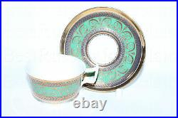 EXCLUSIVE RUSSIAN Imperial Lomonosov Porcelain Coffee Cup and Saucer Golden