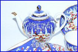 EXCLUSIVE Russian Imperial Lomonosov Porcelain Tea Set Winter Tale 6/14 22k Gold