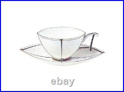 EXCLUSIVE Russian Imperial Lomonosov Porcelain Tea cup & saucer Ark Bone Gold