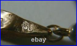 Egg Pendant 56 (14k) Solid Rose Gold Enamel Imperial Russia S. Peterburg KF