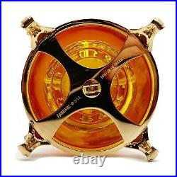 FABERGE Egg Victor Mayer Gdansk Amber 18K Gold Enamel Guilloche Imperial Russian