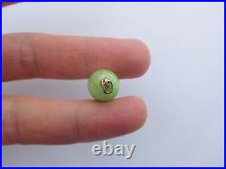 Faberge Imperial Russian 1900 14K 56 Gold Lime Green Enamel Egg Charm Pendant