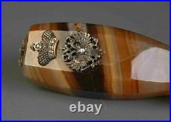 Faberge Rare Russian Imperial Gold Mounted Agate Seal