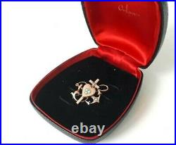 IMPERIAL Russian 84 Silver in Gold Brooch with Turquoise workmaster Faberge