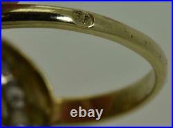 Imperial Russian 14k gold&1.5ct Rose cut Diamond ring for Grand Duchess Olga. Box