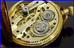 Imperial Russian 18k gold&enamel pocket watch. Awarded by Tsar Nicholas II. Boxed