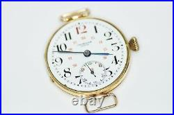 Imperial Russian Army Military Officers Trench Watch Huge 37mm 14k Gold 1800's