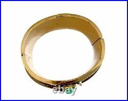 Imperial Russian Bracelet 14k Gold & Green Chrysoprase Gem Stone Circa 1881