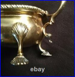 Imperial Russian FABERGE 88 Purity Gilded Gravy Bowl Tsarskoe Selo, Hallmarked