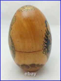 Imperial Russian Faberge 14k Gold 56 Nephrite Jade Egg Pendant Michael Perkhin
