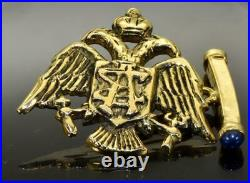 Imperial Russian Faberge 14k gold&Sapphires cufflinks for Grand Duke Mikhail
