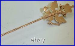 Imperial Russian Faberge Diplomatic award jewelled gold, Diamond eagle lapel pin