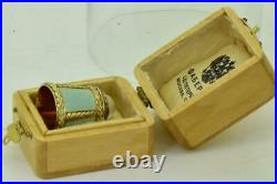 Imperial Russian Faberge varicolor 14k gold, enamel&Diamond Thimble by H. Wigstrom