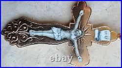 Imperial Russian Orthodox Cross Crucifix Enamel Solid 56 / 14K Gold /3.2gr