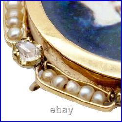 Imperial Russian Tsar Nicholas II Diamond Enamel Gold Stick Pin Brooch Pendant