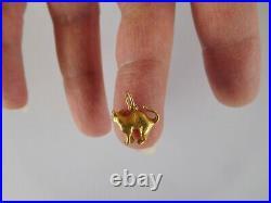 Important Imperial Russian 1900 FRIEDRICH KOECHLI 14K Gold Cat Pendant Charm
