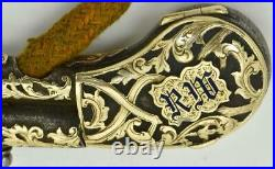 ONE OF A KIND antique Imperial Russian silver&24k gold lighter in form of pistol