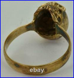 RARE WWI Imperial Russian White Army Ace's 14k gold(56)&Diamonds Skull ring