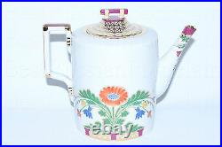 RUSSIAN Imperial Lomonosov Porcelain Teapot Zamoskvorechye Moscow River 22k Gold